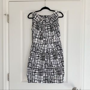 BCX Black and White Dress
